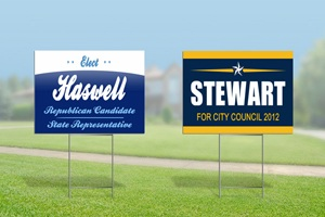 Political Sign Graphics