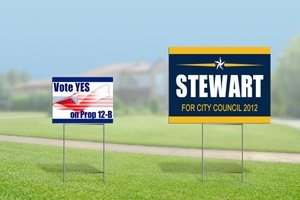 Political Sign Size