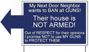 Not Armed Sign